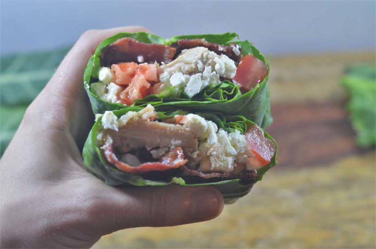 These collard green wraps are the perfect substitute for grain-filled tortillas. Perfect for every diet and way of eating. Vegan, gluten-free, grain-free, dairy-free, low-carb, Paleo, ketogenic, Whole30 compliant.