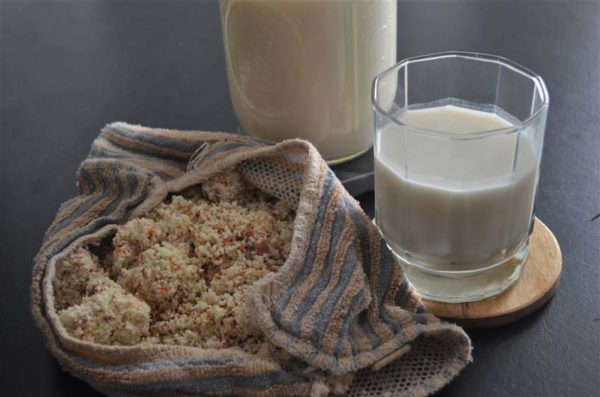 This homemade vegan nut milk can be made with your favorite nut. Super simple and delicious and entirely free of preservatives. Vegan, gluten-free, grain-free, preservative-free, sugar-free, dairy-free.