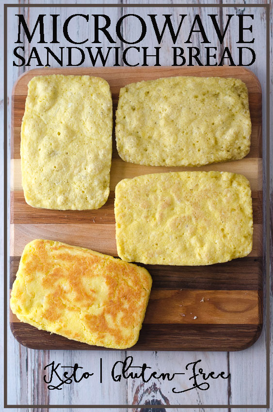 This keto microwave sandwich bread is great for whenever that sandwich urge strikes. Ready in just a few minutes, this bread is perfect for any type of sandwich you can imagine. Gluten-free, grain-free, Paleo, ketogenic and low-carb. Made with just six simple ingredients, and only 1 net carb per slice!