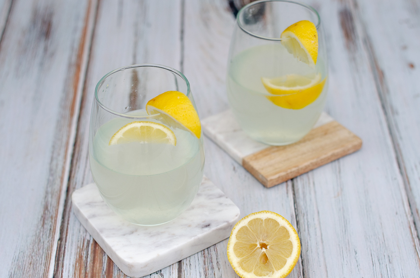 A simple refreshing beverage, this stevia-sweetened lemonade is perfect for summertime! Simply