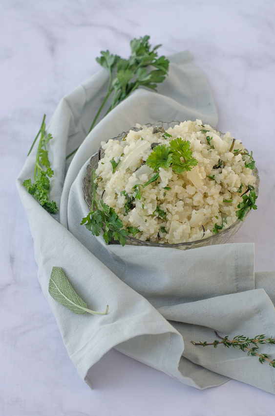 If you're looking to do the holidays a bit healthier this year, then this Thanksgiving Cauliflower Rice Stuffing is right up your alley! Keto, paleo, gluten-free, grain-free, dairy-free.